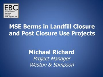 Michael Richard MSE Berms in Landfill Closure and Post Closure ...