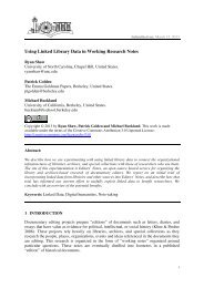 Using Linked Library Data in Working Research Notes - Deutsche ...