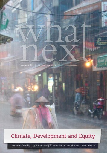 Climate, Development and Equity - What Next Forum