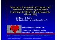 Ergebnisse des Berliner Herzinfarktregister