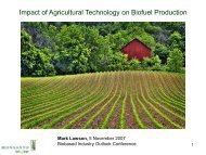 Impact of Agricultural Technology on Biofuel Production