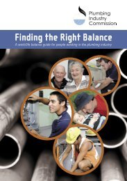 Work Life Balance Booklet - Plumbing Industry Commission