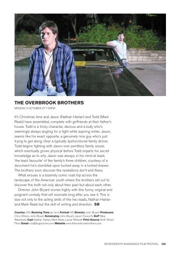 THE OVERBROOK BROTHERS - Raindance Film Festival