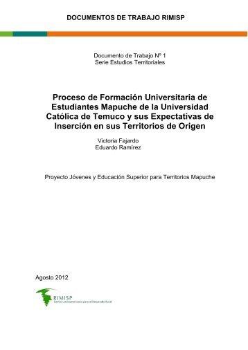 Proceso de Formación Universitaria de Estudiantes ... - Rimisp