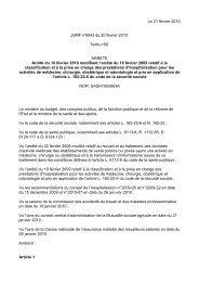 Le 21 février 2010 JORF n°0043 du 20 février 2010 Texte n°26 ...