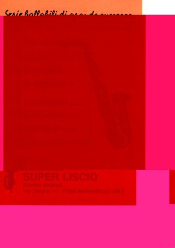L PIROLA FASCICOLO SAX CONCERT - edizioni musicali superliscio