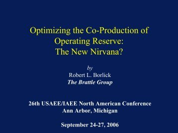 Optimizing the Co-Production of Operating Reserve - United States ...