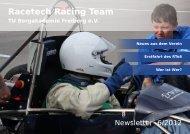 Neues aus dem Verein Erstfahrt des RTo6 Wer ist Wer? - racetech