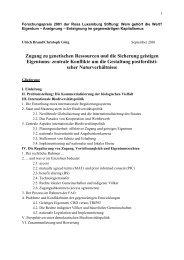 eigentum – aneignung - Biopiraterie