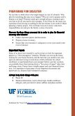 PreParation & Recovery - University of Florida Family Youth and ... - Page 3