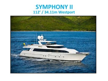 M/Y Symphony II - Paradise Yacht Charters