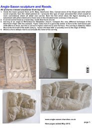 Anglo-Saxon sculpture and Roods. - Anglo-Saxon churches