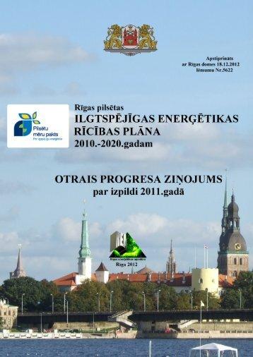 Rīgas pilsētas ilgtspējīgas enerģētikas rīcības plāna 2010.