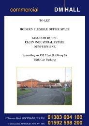 kingdom house, elgin industrial estate, dunfermline - DM Hall