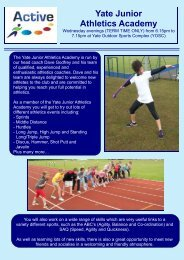 Yate Junior Athletics Academy - Active Centre