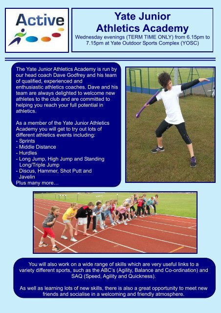 Yate Junior Athletics Academy - Active Centre