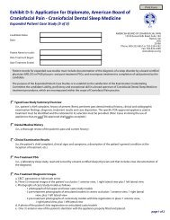 Exhibit D-5: Application for Diplomate, American Board of ... - Abcp.us