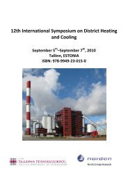 12th International Symposium on District Heating and Cooling