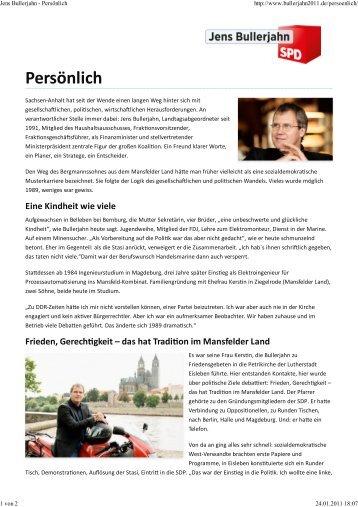 Lebenslauf herunterladen (pdf-Datei, 385KB) - Jens Bullerjahn