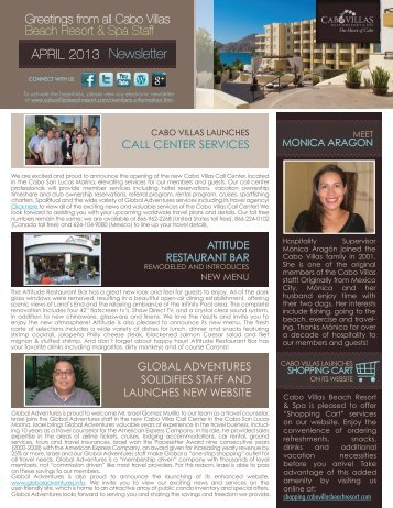 CALL CENTER SERVICES - Cabo Villas Beach Resort