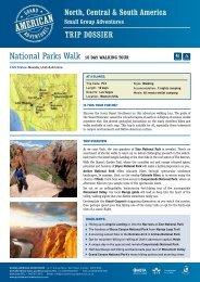 National Parks Walk - Camping - Adventure holidays