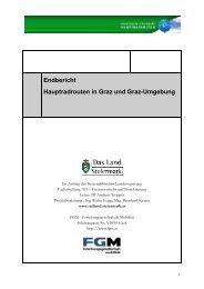 Endbericht Hauptradrouten in Graz und Graz-Umgebung