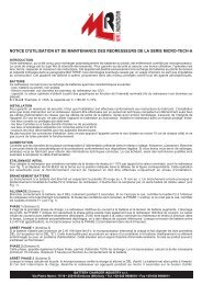 notice d'utilisation et de maintenance des ... - MoriRaddrizzatori