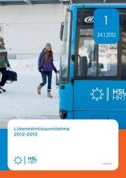 Liikennöintisuunnitelma 2012-2013 - HSL
