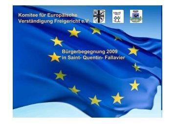 Präsentation zur Bürgerbegegnung - Komitee Freigericht