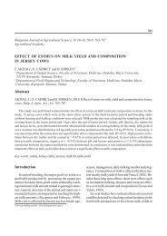 EFFECT OF ESTRUS ON MILK YIELD AND COMPOSITION IN ...