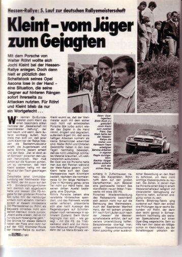 fm dern Porsche von fVdter Rfihrl wollte sich Jocft ... - Rallye Frieg
