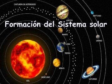 """Formación del Sistema solar - ies """"poeta claudio rodríguez"""""""
