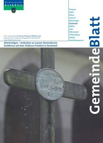 Allerheiligen – Gedenken an unsere Verstorbenen Grabkreuz auf dem