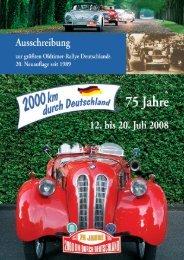 75 Jahre 2000 km durch Deutschland - Rallyeschilder de