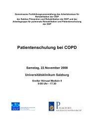 Patientenschulung bei COPD - Zentrum Patientenschulung