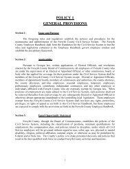 Civil Service Handbook - Forsyth County Government