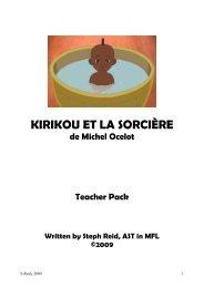 KIRIKOU ET LA SORCIÈRE - Routes Into Languages