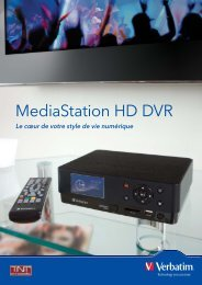 MediaStation HD DVR_A4 Flyer_FRENCH_updated.indd - Verbatim