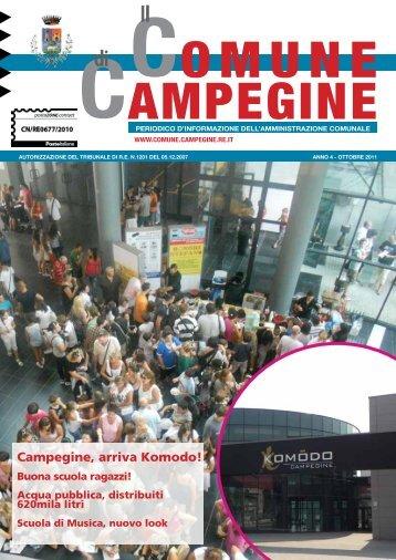 Ottobre 2011 - Comune di Campegine