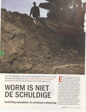 Artikel 'Worm is niet de schuldige' - Ecoservice-Europe