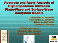 Accurate and Rapid Analysis of High-Impedance Surfaces: Plane ...
