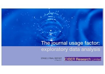 The journal usage factor - COUNTER