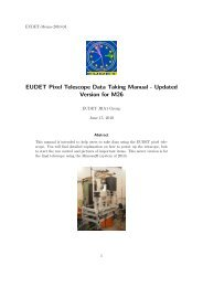 EUDET Pixel Telescope Data Taking Manual - Updated Version for ...