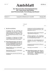 Amtsblatt - Bayerisches Staatsministerium für Unterricht und Kultus ...