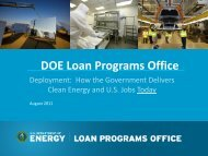 Provides loan guarantees to commercial-scale renewable energy ...