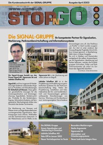 Die SIGNAL-GRUPPE Ihr kompetenter Partner für ... - Signal AG