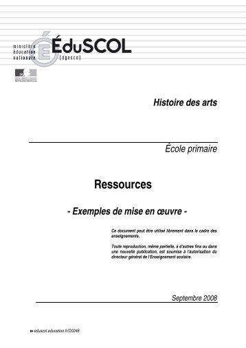 Ressources - Exemples de mise en oeuvre