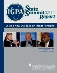 The IGPA State Summit Report - Institute of Government & Public ...