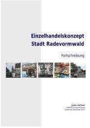 Einzelhandelskonzept Stadt Radevormwald
