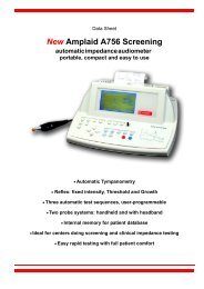 New Amplaid A756 Screening automatic impedance ... - Puretone